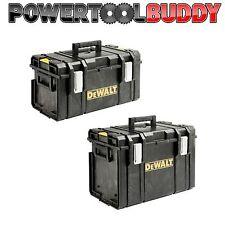 Dewalt Toughsystem Twin Pack DS300 + DS400 caso Caja de almacenamiento de herramientas apilable Resistente