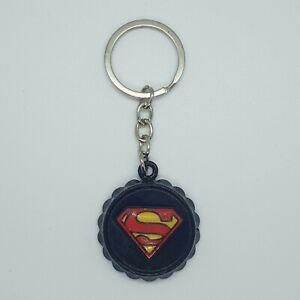 Superman Bottle Opener Keyring KeyChain Metal Bottle Top Novelty - Black Red