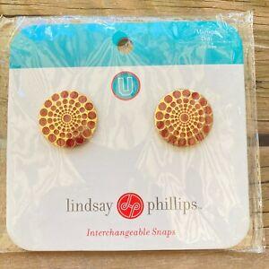 Lindsay Phillips Maroon Dots Snap