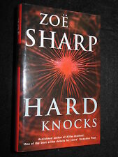 SIGNED; ZOE SHARP - Hard Knocks - 2003-1st - Charlie Fox #3 - Crime Thriller, HB