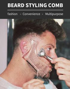 Men Beard Shaping Styling Template Comb Transparent