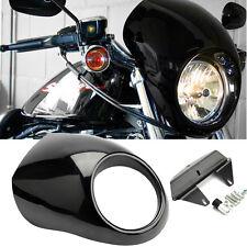"""5 3/4"""" Phare Carénage Avant Headlight Cowl Visor Pr Harley Sportster Dyna FX XL"""