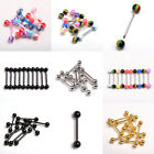 Barbell Lip Labret Ring Stud Earring Tragus Helix Body Piercing Jewelry 10pcs