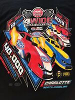 NHRA DRAG RACING 2019 4 WIDE N.C. NATIONALS T- SHIRT  SIZE LARGE