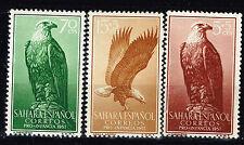 Spanish Sahara Fauna Birds Eagles stamps 1957 MLH