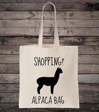 Funny Alpaca Bag Animal Lover Cotton Shopping Tote Bag