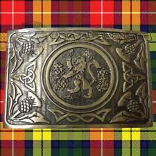 Scottish Thistle Kilt Belt Buckle Celtic Lion Rampant Antique Finish Highland