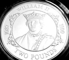 More details for 1988 guernsey £2 two pound coin silver proof king william ii coa & box rare