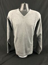 Men's Nike Golf V-neck Gray Long Sleeve Sweater Sz. Large
