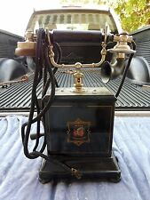 Fine ANTIQUE Jydsk Telefon Aktieselskab Handkurbel Schreibtisch Telefon