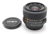 😊  NEAR MINT Minolta MD 28mm f/2.8, Front Cap, Rear Cap from Japan