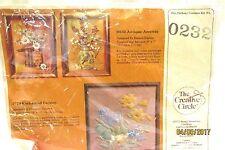 1980s Creative Circle Stitchery Kit 0232 Antique Accents Floral