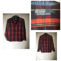 Polo By Ralph Lauren Mens Plaid Cotton Long Sleeve Shirt S(B48)