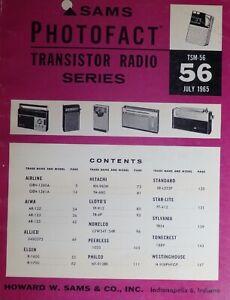 Sams Transistor Service Manual TSM 56 Early Bound Photofacts Free Shipping