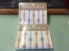 VINTAGE GALLERIA FOR MERVYN'S CAL KING FITTED AND FLAT SHEETS 190 THREAD
