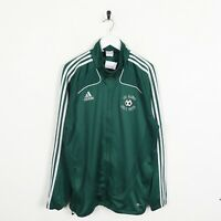 Vintage ADIDAS Small Logo Zip Up Tracksuit Top Jacket Green | Large L