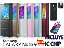 FUNDA FLIP COVER VIEW PARA SAMSUNG GALAXY NOTE 4 INCLUYE CHIP S-VIEW NOTE4