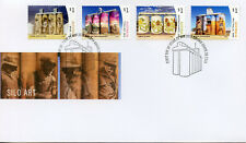 Australia 2018 FDC Silo Art Drapl & Zookeeper Amok Island 4v Set Cover Stamps