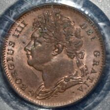 More details for 1826 george iv farthing pcgs ms64rb 1/4 penny great britain laurel head km697.