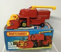 Lesney Matchbox Series 75 Superfast No 51 Combine Harvester - Near Mint in Box