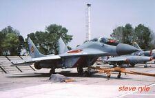 "MILITARY AIRCRAFT SLIDE - MIG-29A ROMANIAN AF ""75"" - 2001"