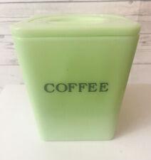 Rare Jeannette Jadite Coffee Canister Vintage Original Kitchen Decor No Chips