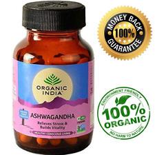 Organic India Ashwagandha Root Powder Capsules 400mg