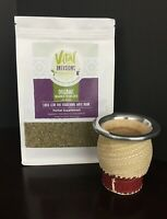 Yerba Mate-Loose Leaf - Organic with Mate Gourd-Vital Infusions Brand 12oz