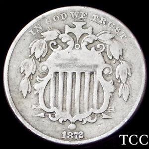 1872 SHIELD NICKEL 5c ~ BEAUTIFUL ORIGINAL COIN ~ RARE DATE ~ TCC