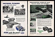 1959 Peters and Remington Shotgun Shells Vintage Ammunition 2 Ad Lot
