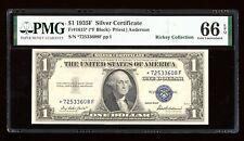 DBR $1 1935-F Silver STAR Gem Fr. 1615* PMG 66 EPQ Serial *72533608F