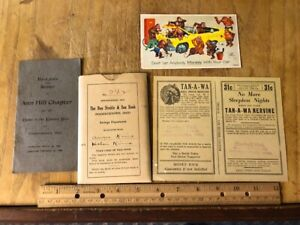 4 Vintage Fredericktown Ohio advertising items, Indian Medicine Fink's Pharma