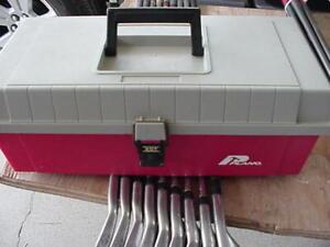 Vintage Plano 201 Red Portable Tool Box, Plastic One Tray 6X15X7 inches v nice