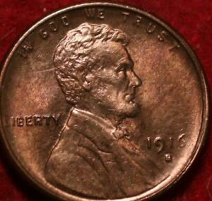 Uncirculated 1916-S San Francisco Mint Copper Lincoln Wheat Cent