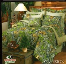 Mossy Oak Obsession Camouflage Queen Percale Sheet Set 4 pieces Outdoors Leaves