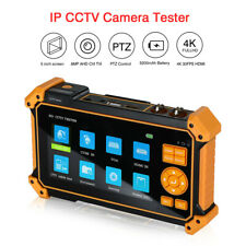 4in1 CCTV Camera Tester AHD TVI CVI SDI Analog Monitor HDMI VGA 4K H.265 ONVIF