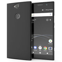 Sony Xperia XA2 Plus Case, Silicone Ultra Soft Gel Phone Cover - Matte Black