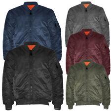 Men's Jacket Premium Padded Water Resistant Reversible Flight Bomber Outerwear