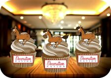 Cartoon Running Horse 12 Edible STANDUP Cake Toppers Decoration Birthday Riding