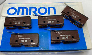 LOT OF 5 Omron X-10GL General Purpose Basic Switch 10A 250Vdc SPDT (NEW)