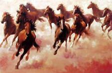 "Run For Fun  Jim Rey Horse Print Open Edition  Image 18"" x 12"""