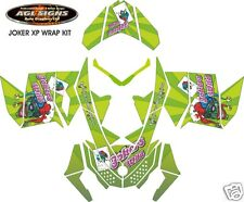 JOKERS WILD SLED WRAP  for SKI-DOO rev XP 2008-12   mxz  summit  renegade  decal