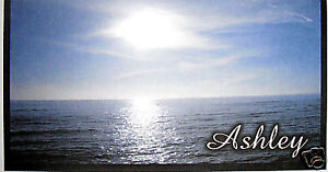 CHECKBOOK COVER PERSONALIZED BLUE WATER SUNSET