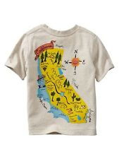 GAP Baby / Toddler Boy Size 12-18 Months NWT California Travel Map T-Shirt Top
