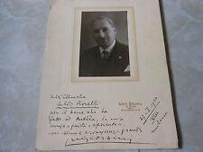 1930 FOTO + AUTOGRAFO POETA LUIGI ORSINI IMOLA DEDICA ALDO BORELLI GIORNALISTA