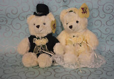 New 35cm Tall Teddy Bears Bride & Groom