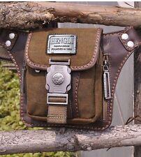 Fashion Men's Vintage Canvas Waist Pack Fanny Bag For Hiking Travel