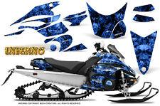 Yamaha FX Nytro 08-14 Graphics Kit CreatorX Snowmobile Sled Decals INFERNO BL
