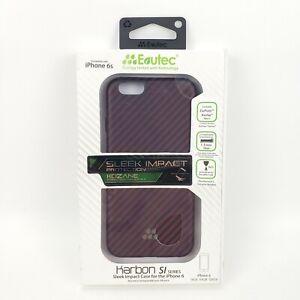 NEW Evutec Karbon SI Kozane Series Hybrid Case For Apple iPhone 6s / 6 Red Black