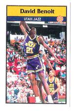 David Benoit 1992-93 Utah Jazz Basketball Italian Panni Sticker card